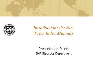 Introduction: the New Price Index Manuals