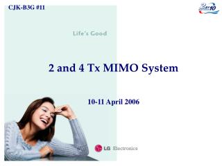 2 and 4 Tx MIMO System