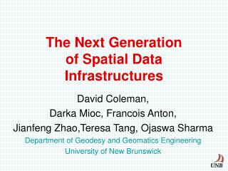 The Next Generation  of Spatial Data Infrastructures
