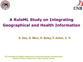 A RuleML Study on Integrating Geographical and Health Information