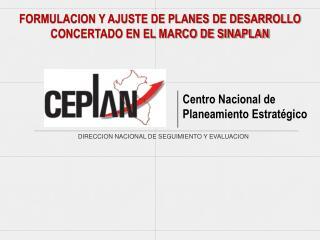 DIRECCION NACIONAL DE SEGUIMIENTO Y EVALUACION