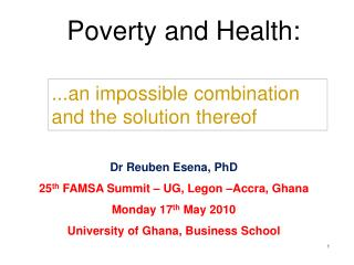 Poverty and Health: