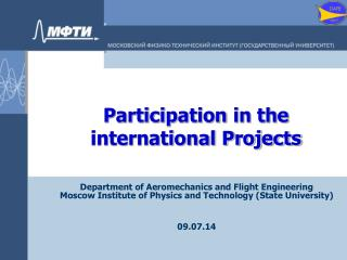 Participation in the international Projects