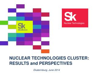 NUCLEAR TECHNOLOGIES CLUSTER :  RESULTS and PERSPECTIVES
