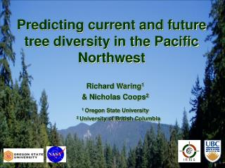 Predicting current and future tree diversity in the Pacific Northwest