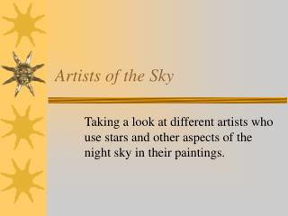 Artists of the Sky