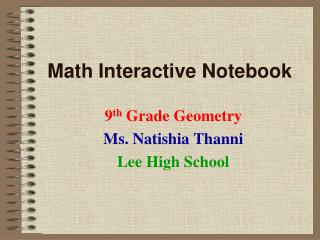 Math Interactive Notebook
