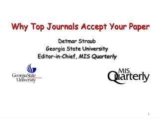 Why Top Journals Accept Your Paper