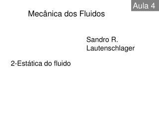2-Estática do fluido