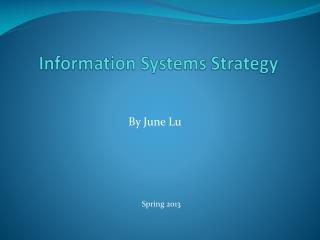 Information Systems Strategy