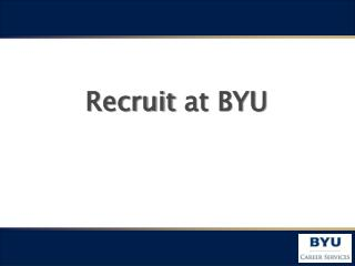 Recruit  at  BYU