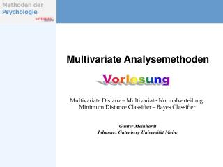 Multivariate Analysemethoden