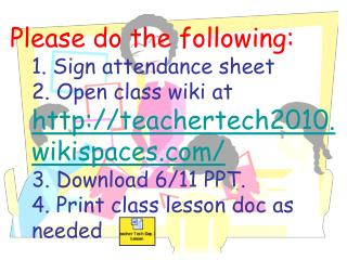 Technology for Educators, June 10, 2010