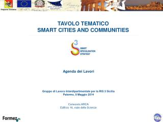 TAVOLO TEMATICO  SMART CITIES AND COMMUNITIES
