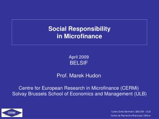 Social Responsibility in Microfinance