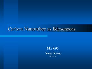 Carbon Nanotubes as Biosensors