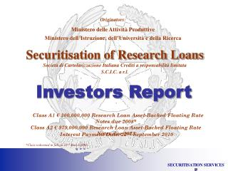 Securitisation of Research Loans