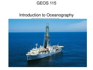 GEOS 115 Introduction to Oceanography