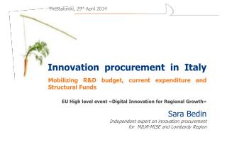 Innovation procurement   in   Italy