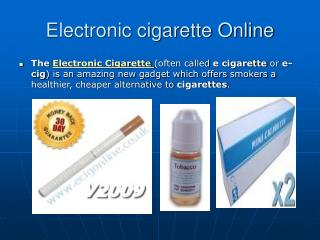 electronic cigarettes online