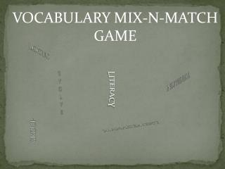 VOCABULARY MIX-N-MATCH GAME