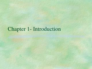 Chapter 1- Introduction