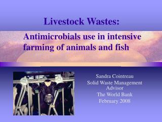 Livestock Wastes: