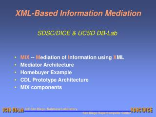 XML-Based Information Mediation