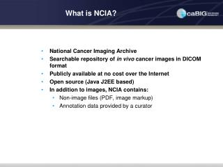 What is NCIA?