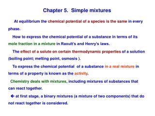 Chapter 5.  Simple mixtures