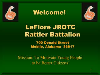 Welcome!   LeFlore JROTC   Rattler Battalion
