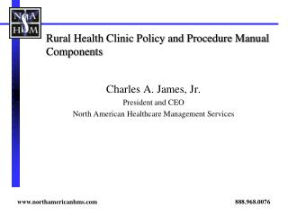 Rural Health Clinic Policy and Procedure Manual Components