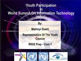 Youth Participation  In World Summit On Information Technology (WSIS)