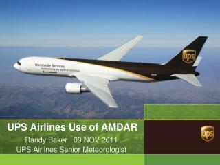 UPS Airlines Use of AMDAR