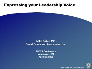 Expressing your Leadership Voice