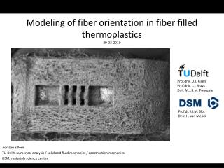 Modeling of fiber orientation in fiber filled thermoplastics  29-03-2010