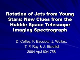 Rotation of Jets from Young Stars: New Clues from the Hubble Space Telescope Imaging Spectrograph