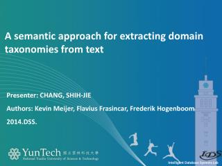 A semantic approach for extracting domain taxonomies from text
