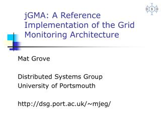 jGMA:  A Reference Implementation of the Grid Monitoring Architecture