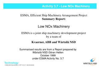 Activity 3.7 - Low NOx Machinery