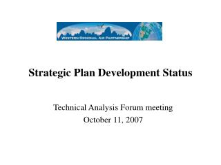 Strategic Plan Development Status