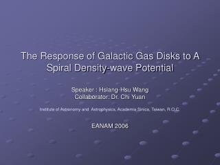 The Response of Galactic Gas Disks to A Spiral Density-wave Potential