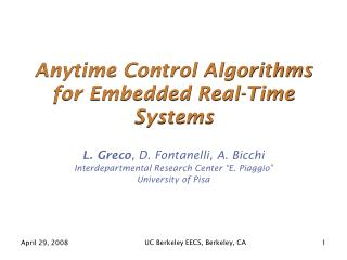 Anytime Control Algorithms for Embedded Real-Time Systems