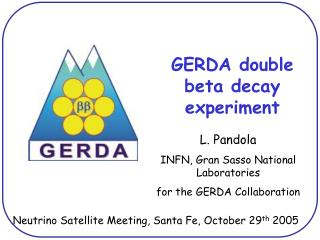 GERDA double beta decay experiment