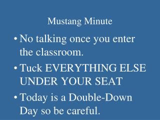 Mustang Minute