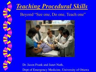 Teaching Procedural Skills