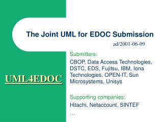 The Joint UML for EDOC Submission
