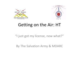 Getting on the Air: HT