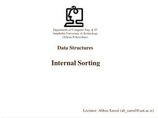 Internal Sorting