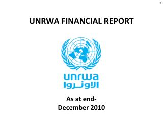 UNRWA FINANCIAL REPORT